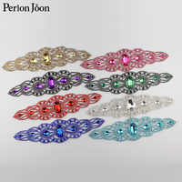 9.18*1.98 pouces 8 couleur longue soudure cristal applique strass patchs coudre sur les manches pour robe de mariée accessoires YH Z022