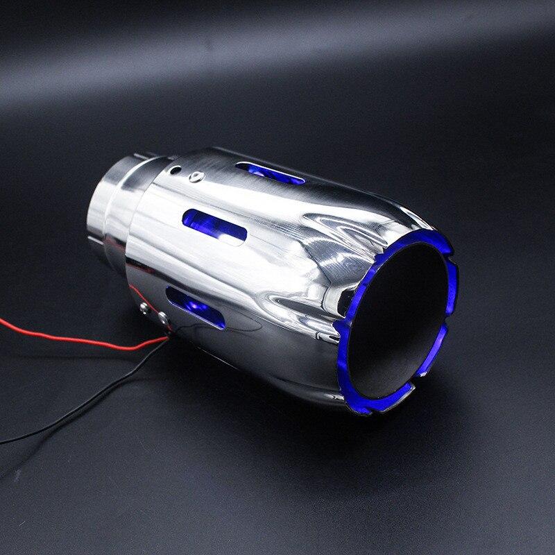 1 шт. Авто Spitfire хвост горла свет модифицированный эффект пожаротушения из нержавеющей стали автомобиль выхлопная изгогнутая труба/прямой хвост сзади