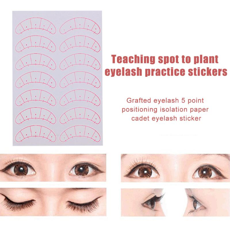 140pcs Eyelash Extension Positioning Stickers Practical Operation Simple Conveninently Lashes Grafting Training Patches