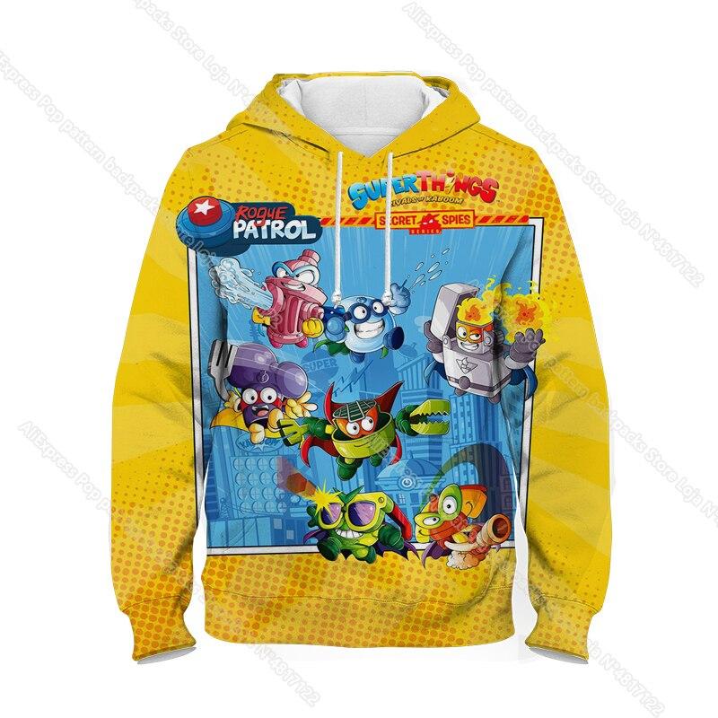 New Super Zings Series 6 Hoodies for Teens Girls Autumn Winter Kids 3D Cartoon Pullover Children Superzings Sweatshirt Boys Tops 28