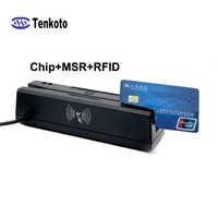 Lector de tarjetas inteligentes USB para tarjetas bancarias, lector de tarjetas con Chip IC/ID EMV, lector de tarjetas RFID, lectura magnética todo en uno, Terminal MSR