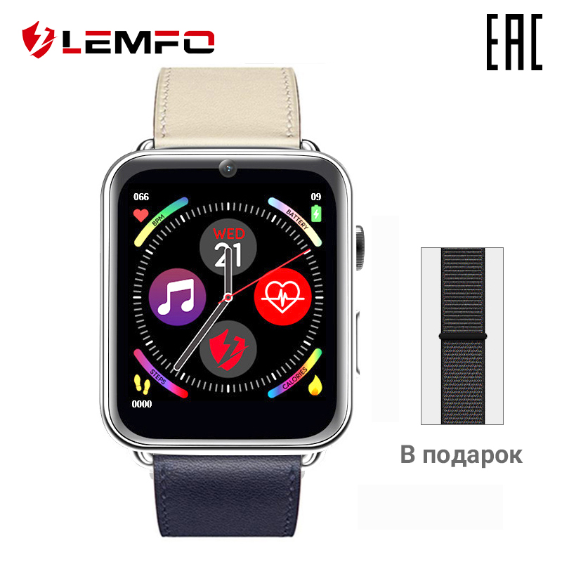 Smart orologio unisex LEMFO LEM10 RAM 1 GB + ROM16ГБ smart watch con monitor in tempo reale per gli uomini delle donne