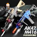 M416 Мягкая Пуля ручной игрушечный пистолет винтовка стрельба страйкбол пистолет пластиковая модель военного оружия для детей мальчиков ули...