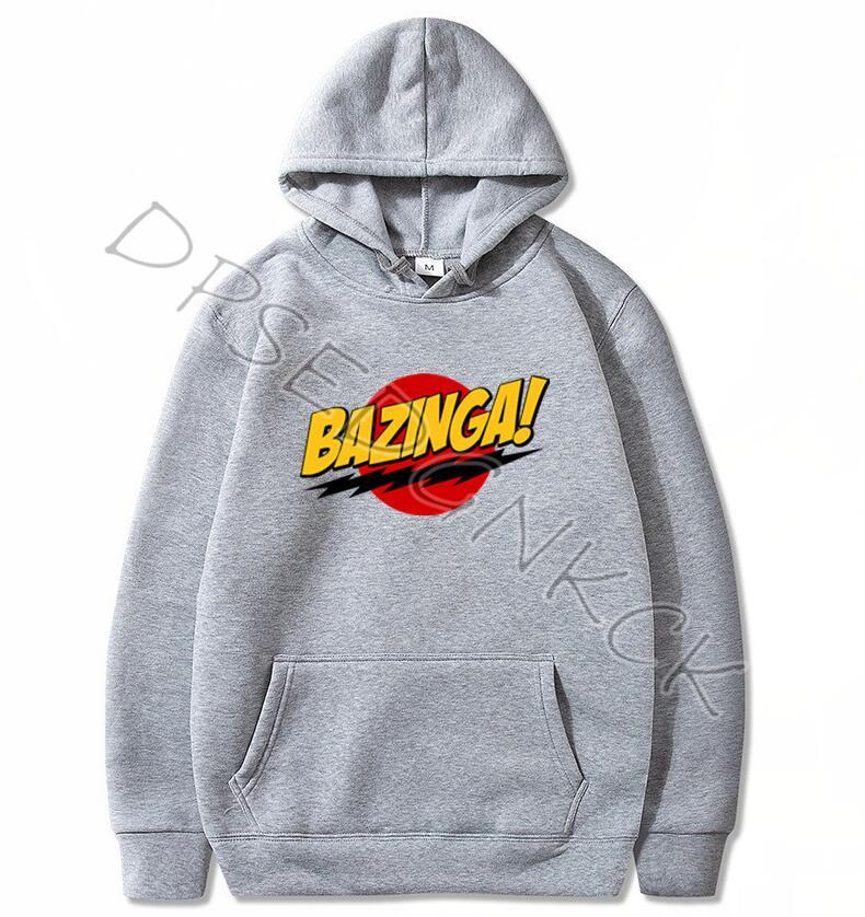 HanHent The Big Bang Theory Hoodies BAZINGA 2020 Male Casual Hoodies Sweatshirts Men And Women Sweatshirt Tops A26