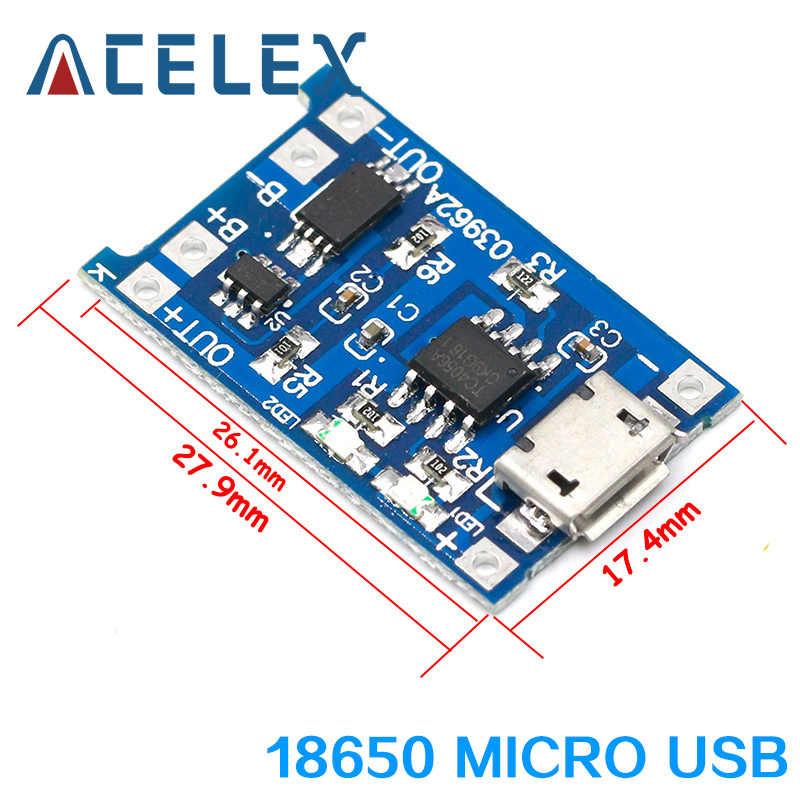 Type C/Micro USB 5V 1A 18650 TP4056 Lithium Battery Charger Modul Pengisian Papan dengan Perlindungan Ganda fungsi 1A Li-ion