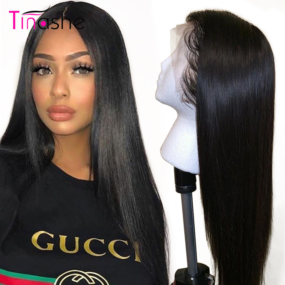 Straight Lace Front Wig Tinashe Hair Remy Brazilian Pre Plucked 360 Lace Frontal Wig 180 250 Density Lace Front Human Hair Wig