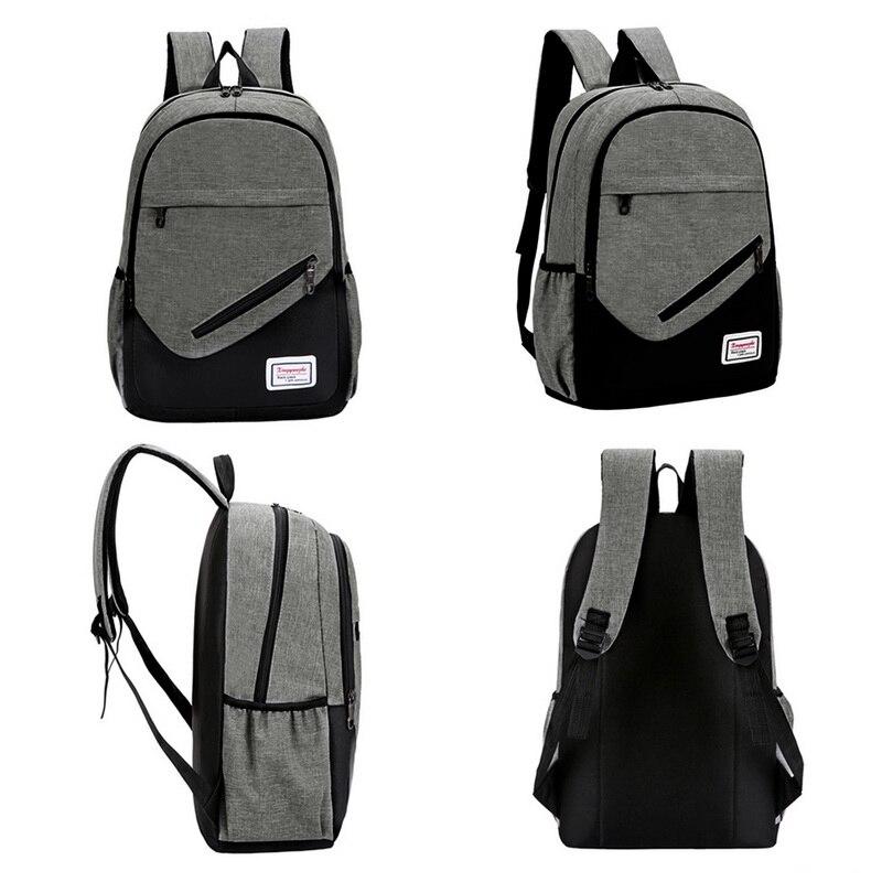 Damen Herren Rucksack Backpack Sport Freizeit Laptop Schule Tasche Mit USB Port