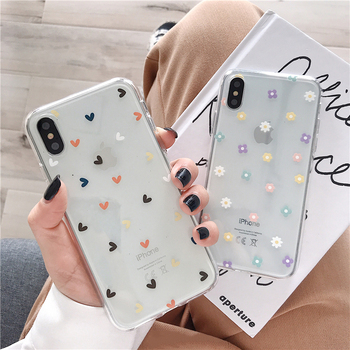 Transparent Flowers Phone Case  For iPhone