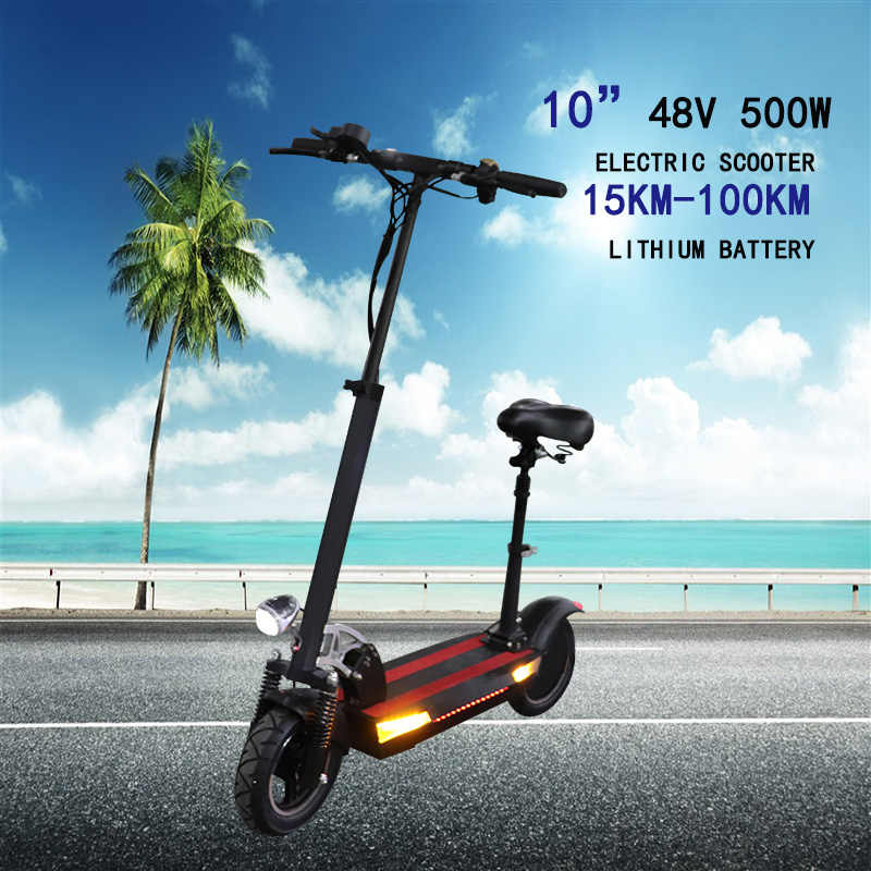 "10""Electric Scooter 48V 500w  100km Powerful Electric Skateboard 48V 5AH-26AH Patinete Electrico Adulto Foldable Kick e scooter"