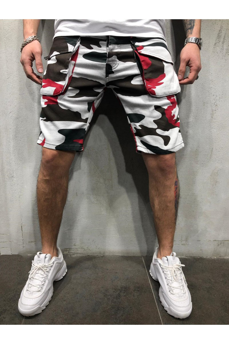 '2019 Loose-fitting Casual Camouflage Cargo Shorts For Men Men's Outdoor Pants With Extra Pockets