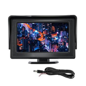 Stile Classico 4.3 Tft Lcd Retrovisore Auto Monitor per Dvd Gps di Sostegno D'inversione Della Macchina Fotografica Del Veicolo di Guida Accessori-in Monitor per auto da Automobili e motocicli su