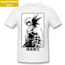Смешная хлопковая Футболка katsuki bakugo футболка с графическим