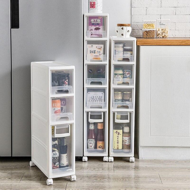 16cm storage drawers cabinet slotted shelf kitchen toilet plastic drawers finishing crack font b closet b