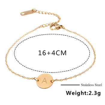 Stainless Steel Letter bracelets&bangles For Women Wholesale bracelet dropshipping Chain Link accessories couple gold silver 5