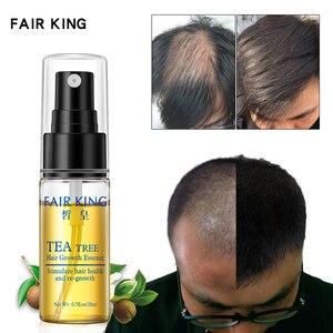 Image 1 - תה עץ מזין שיער Treament נוזל צמיחת שיער מהיר מוצר חיוני שמן אנטי מניעת שיער לאבד פגום סרום קרטין