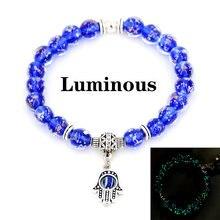 Сине черный модный браслет на ладонь сглаза Шарм подвеска horus