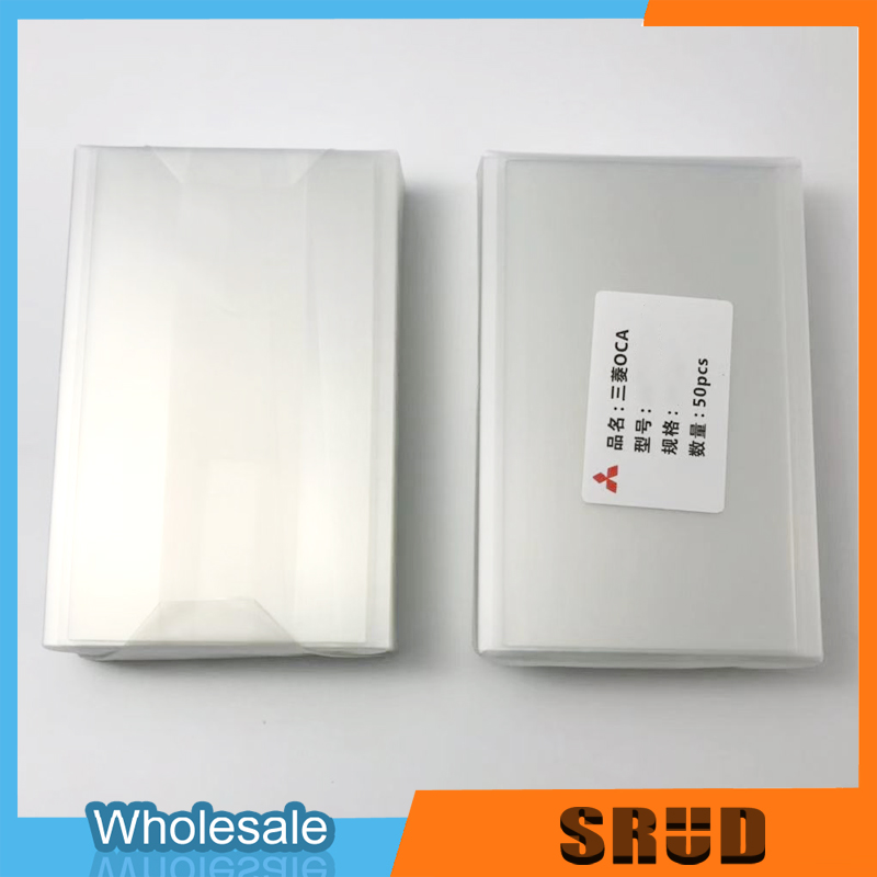 200um/250um Universal Sizes Mitsubishi OCA Optical Clear Adhesive Glue Film 4 4.5 4.7 5 5.3 5.5 6 6.3 6.44 7 7.9 Inch