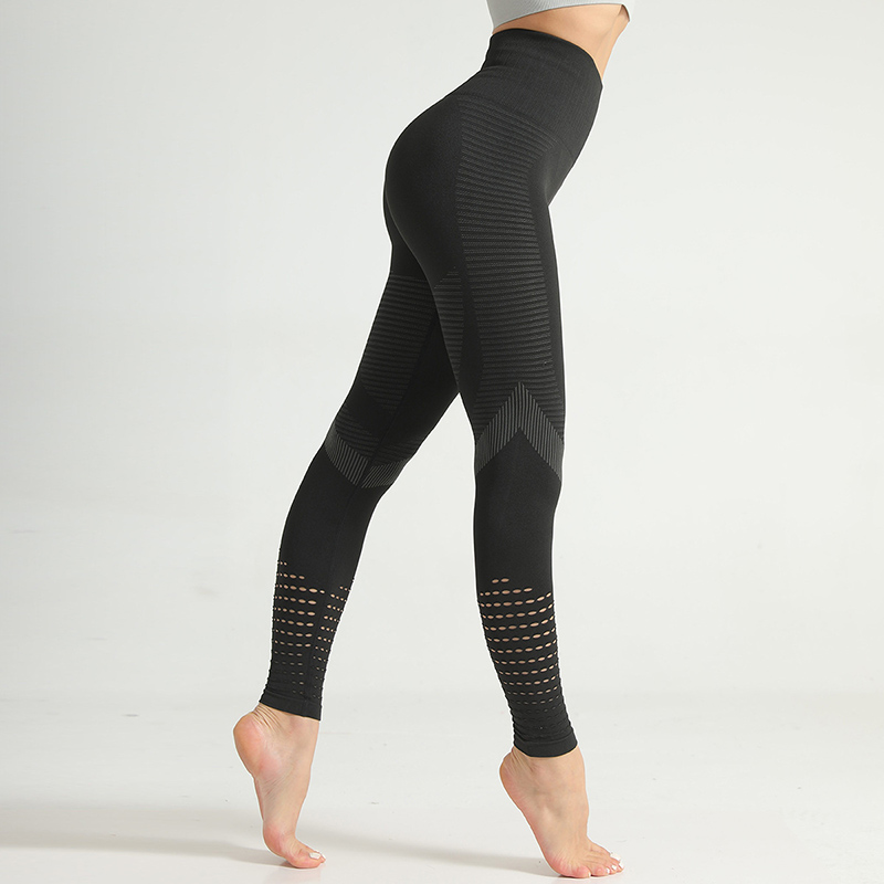 Hot Women High Waist Seamless Leggings Hollow out Stretchy Yoga Pants Sport Tights MVI-ing