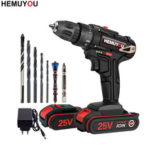 25V Cordless Electric Drill Household Hand-held Rechargeable Electric Screwdriver Lithium-ion Battery Power Tools