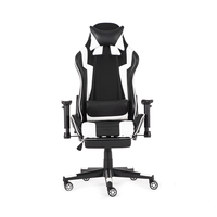 WCG 180° Lying Footrest Boss Office Chair Gaming Chair Leather Ergonomic Computer Internet Cafe Chair Reclining Lounge Chair
