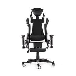 WCG 180 ° yalan Footrest yönetici ofis koltuğu oyun sandalyesi deri ergonomik bilgisayar Internet kafe sandalyesi uzanmış şezlong