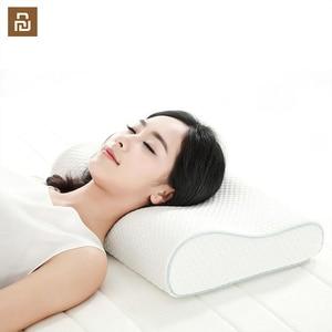 Image 1 - Подушка из хлопка с эффектом памяти, 8H, приятное ощущение, медленно восстанавливает форму, супермягкая Антибактериальная подушка для поддержки шеи H1