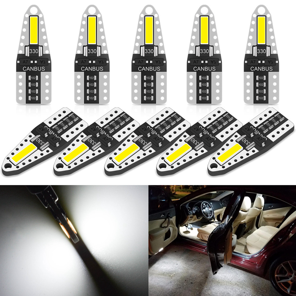 Ampoule d'éclairage d'intérieur de voiture, 10x W5W LED T10 LED, pour Kia Sportage Ceed Rio 3 4 Sorento Cerato Picanto Optima K3 Forte K2 K5 KX5 Soul