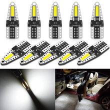 10x W5W LED Leds Auto 12V T10 LED Interior Car Lights For Renault Duster Megane 2 3 Logan Clio Fluence Captur Sandero Laguna