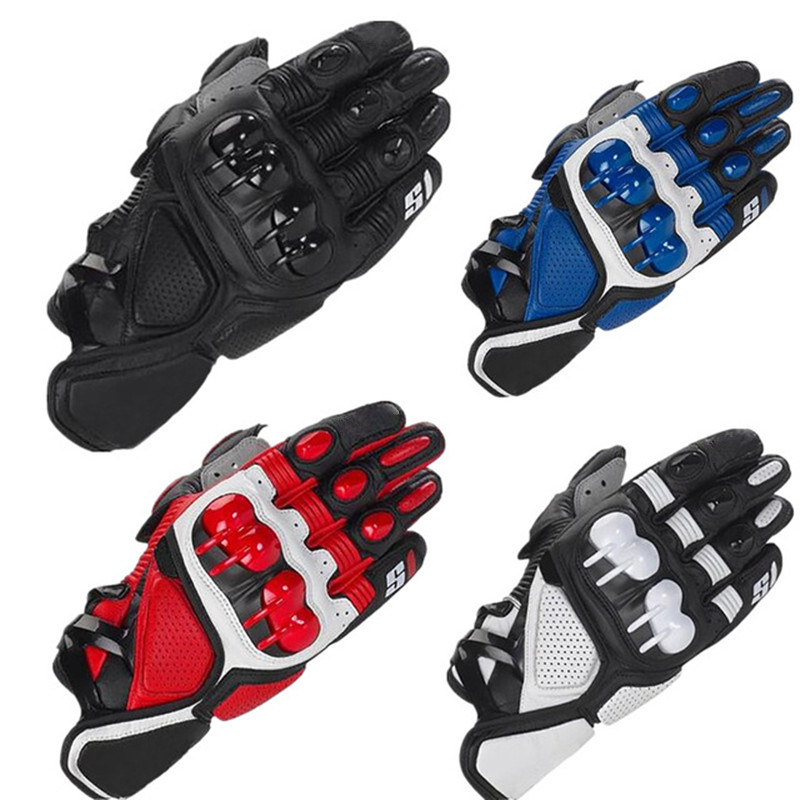 Alpine Motocross Racing Gloves Stars Motorcycle Gloves Leather Guantes Moto Luva Motociclista Motorbike Riding Gloves Gant Motor