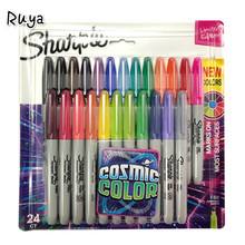Marker Pen Set Colored Fine Bullet For School Drawing Design