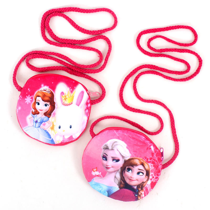 Disney Frozen Cute Children Plush Purse Coin Messenger Small Toy Bag Kindergarten Activity Gift Baby Small Backpack Holder Card