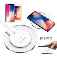Cargador inalámbrico Qi para iPhone 11/XS/XR/8, LED, USB, teléfono inteligente, cargador inalámbrico para Samsung Galaxy Note 9/S10, accesorios para teléfono