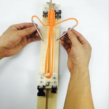 Bransoletka narzędzie dziewiarskie nadgarstek narzędzie dziewiarskie DIY drewno Paracord Jig bransoletka ekspres nadgarstek Maker tanie i dobre opinie CN (pochodzenie) Paracord bracelet maker