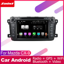 ZaiXi android car dvd gps multimedia player For MAZDA CX-9 2006~2015 car dvd navigation radio video audio player Navi Map недорого