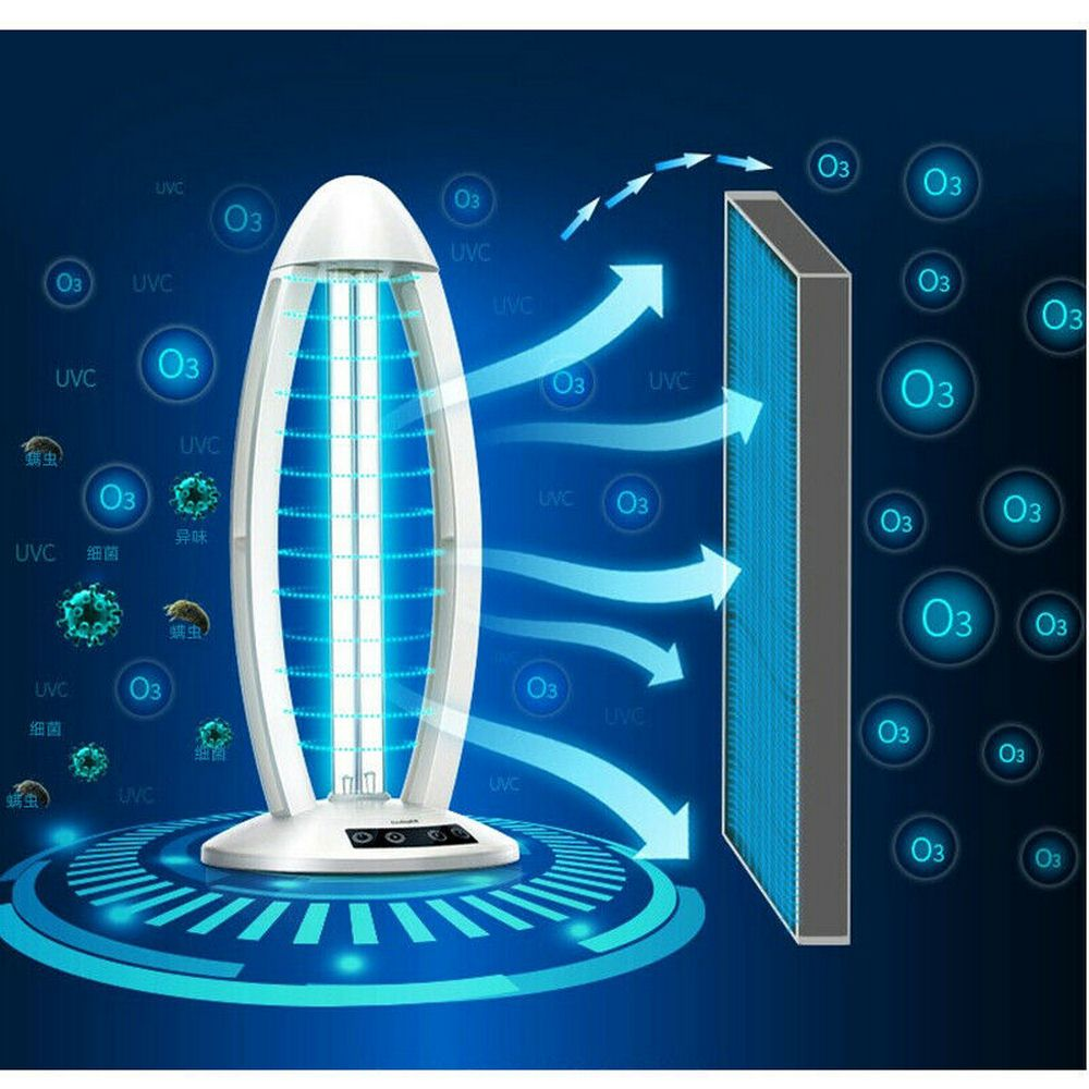 38W High Ozone UV Disinfection Lamp 90-265V Household Ultraviolet Lamps UVC Germicidal Light Sterilizing Lights For Home