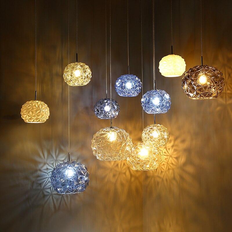 Nordic Modern chandeliers ceiling Meteor Hammer Glass Pendant Lamp Living Room Light Fixtures Glass hanging Lamp