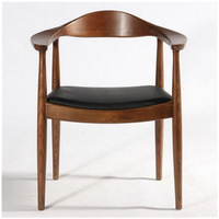France Free Nordic Solid Wood Home Study Restaurant Dining Chair Meeting Negotiation Office Armrest Chair Sofa Chair Living