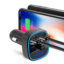 Buy Car Mp3 Music Player Bluetooth 5.0 Receiver FM Transmitter Dual USB Car Charger U disk & TF Card Lossless Music Player directly from merchant!