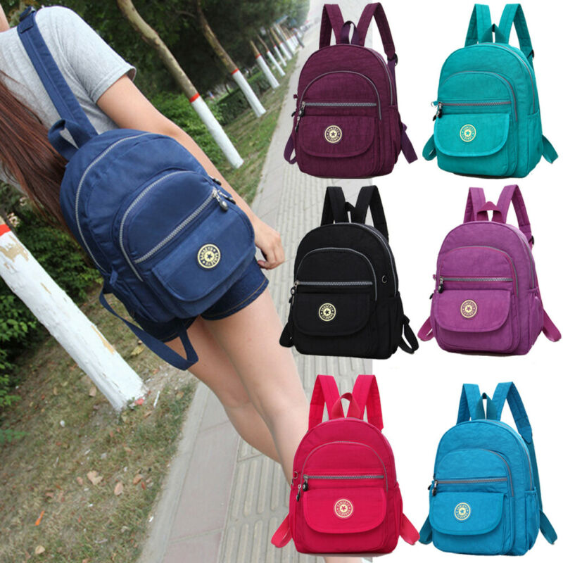 Women School Bag Fashion Shoulder Rucksack Ladies Bookbags Nylon Satchel Travel Nylon Small Backpack Hand Bag Shoulder Bag Gift