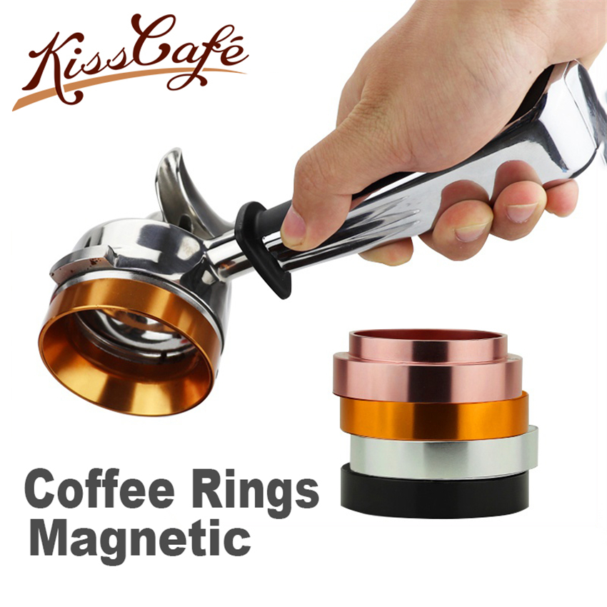 58mm Stainless Steel Intelligent Dosing Ring Brewing Bowl Magnetic Coffee Powder For Espresso Barista Funnel Portafilter