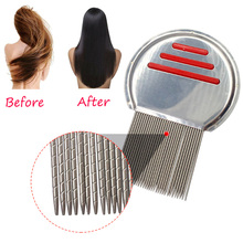 1 PC Lice Comb Brushes Flea Nit Remover for Head Dog Cat Pet Hair Terminator Stainless Steel Density Teeth