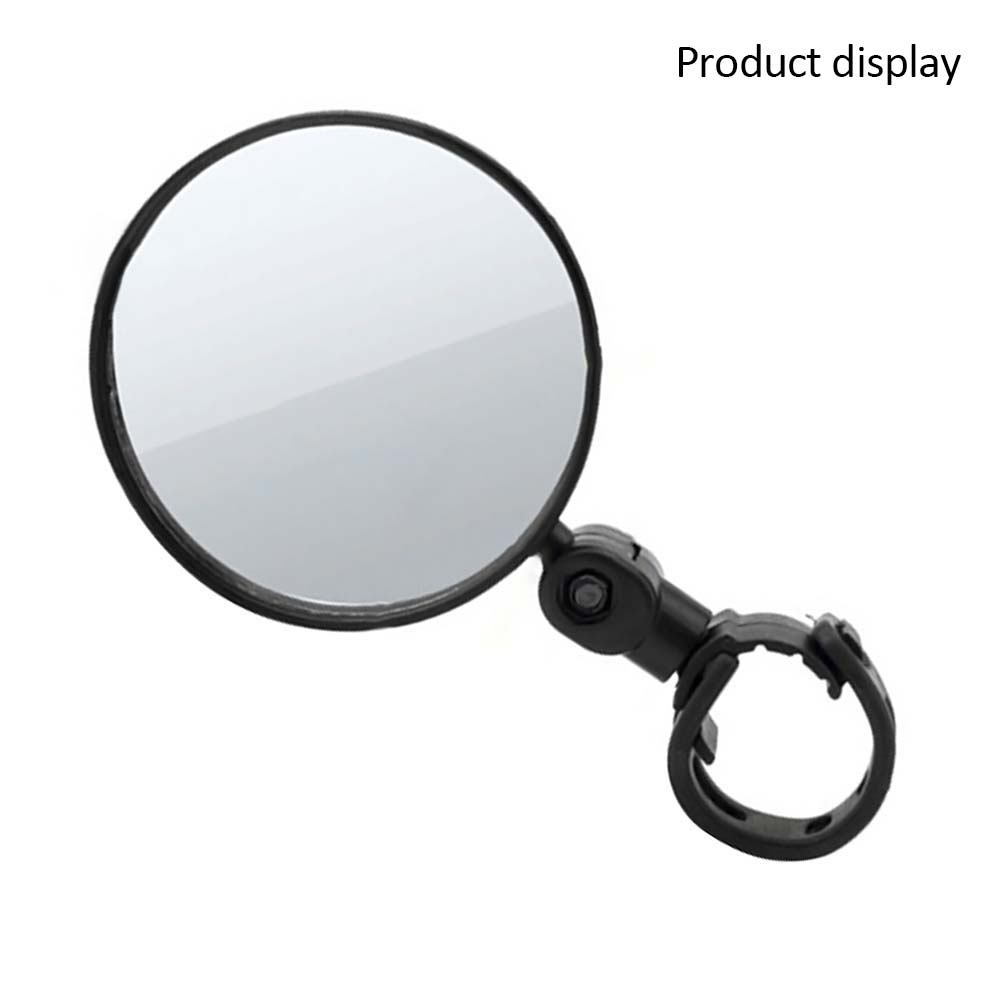 Bicycle Rearview Mirror Wide-angle Convex Mirror Bicycle Mirror Mountain Bike Rearview Mirror Silicone Handle Rearview Mirror