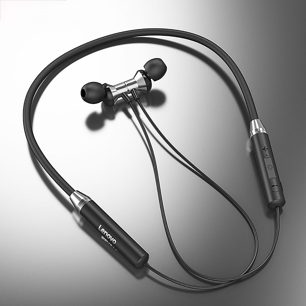 Lenovo HE05 <font><b>Bluetooth</b></font> <font><b>5.0</b></font> Wireless Earphones Neckband Style In-ear Earphone 12 Hours Working Time For All <font><b>Smartphone</b></font> image
