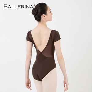 Image 4 - バレエレオタード女性ダンスウェア専門的な訓練yogaセクシーな体操クロスオープンバックレオタードバレリーナ 3551