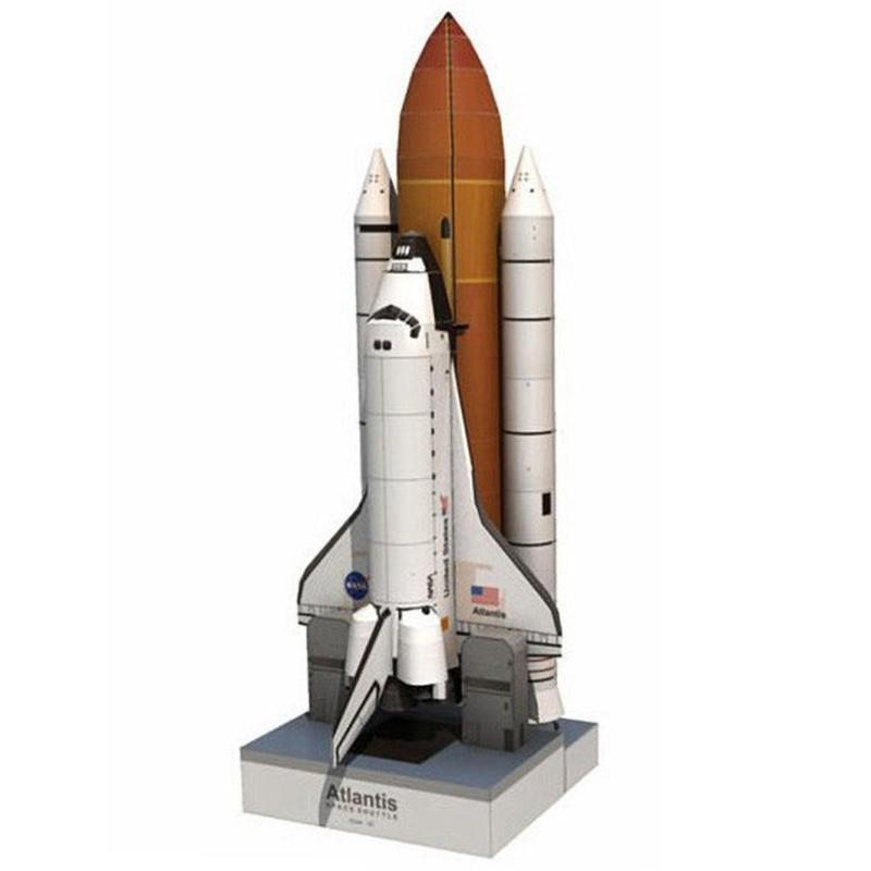1: 150 Space Shuttle Paper Model Toy Glossy Coated Paper Craft Space Rocket DIY Puzzle Kids Adult Model Toys