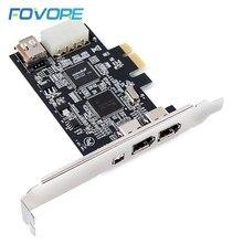 1 conjunto pci-e 1x ieee 1394a 4 porto (3 + 1) adaptador de cartão firewire 1394 um pcie com 6 pinos para 4 pinos ieee 1394 cabo para desktop