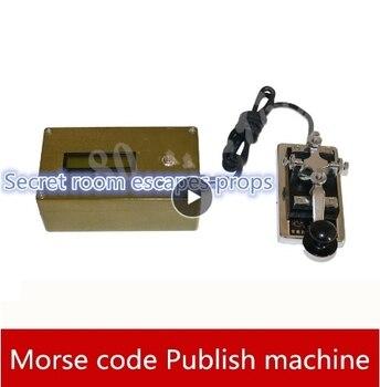 real life games escape room props Morse code unlock organ props radio station Publish machine escape room game