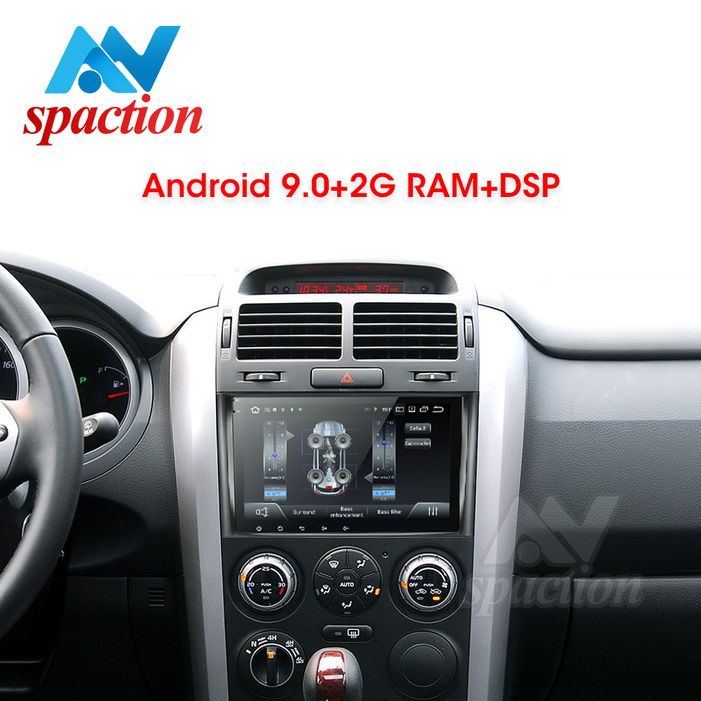 Anspaction android 9.0 car dvd for suzuki grand vitara 2006-2011 multimedia car radio stereo gps with steering wheel navigation