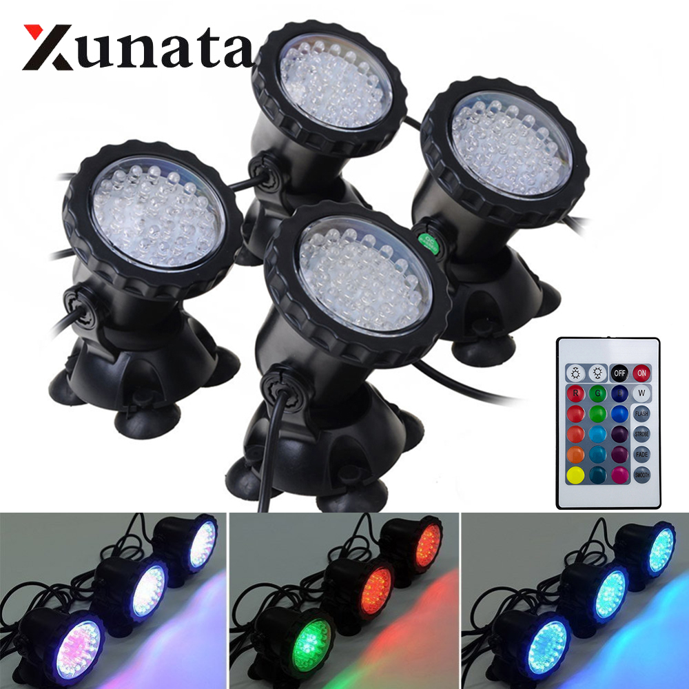Waterproof LED Underwater Lights Lamp RGB Underwater Spot Light For Swimming Pool Fountains Pond Water Garden Aquarium Light