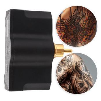 Profesjonalny zasilacz do tatuażu bezprzewodowy zasilacz do tatuażu RCA połączenie akcesoria do maszyn do tatuażu akcesoria do tatuażu tanie i dobre opinie VGEBY Tattoo Power Supply Black